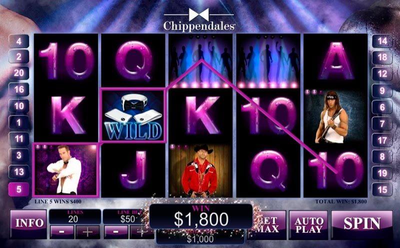 Chippendales Slot Machine