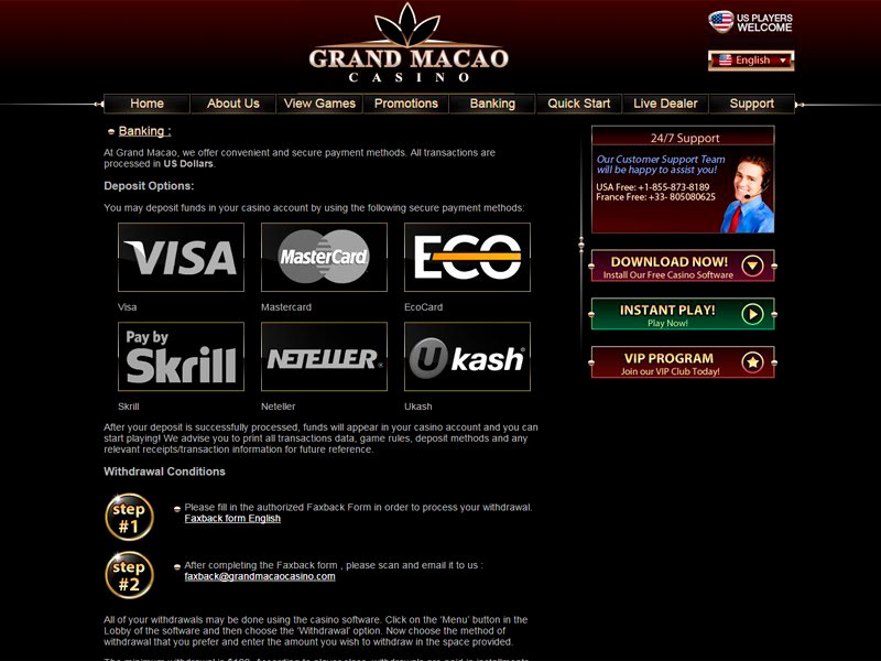 Grand Macao Casino – US Casino Online