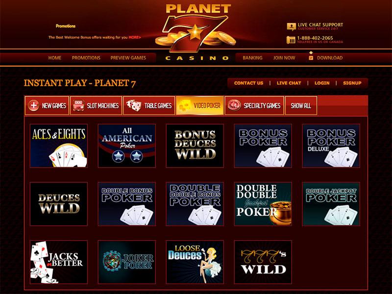 Planet 7 Casino Us Casino Online