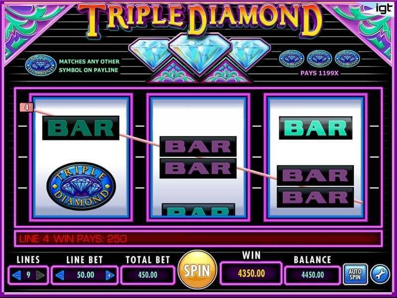 Try Triple Diamond Slots Now
